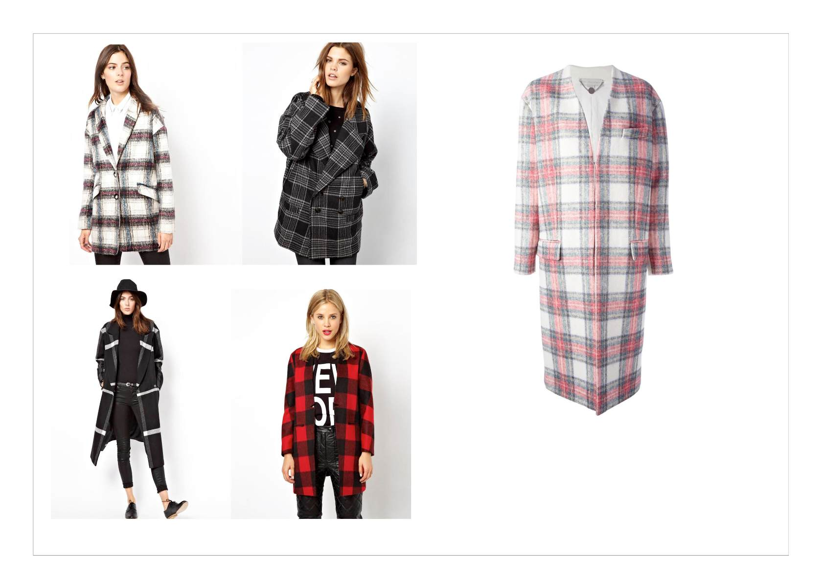 checked coats | #fashion #industryfiles #coat #winter #style #outfit